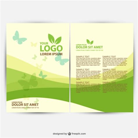 Free Brochure Design Template by 25 Free Brochure Vector Design Templates Designmaz
