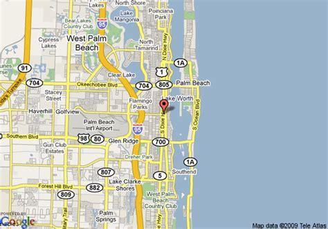 west palm florida map map of biba hotel west palm