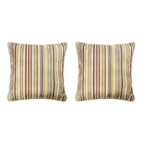 decorative striped throw pillows set of 2