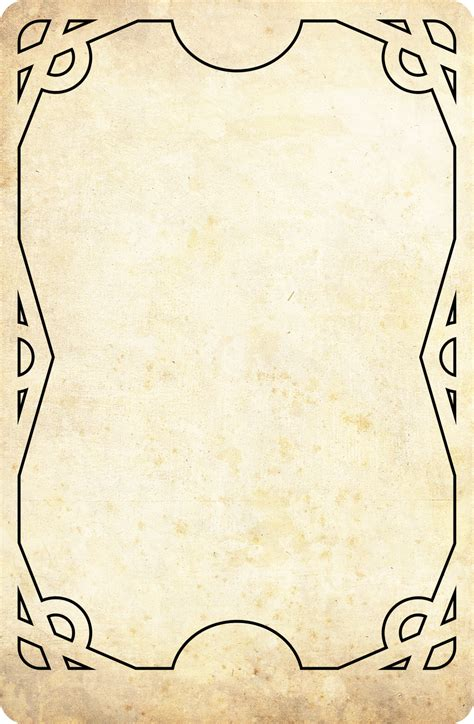 Tarot Card Template Illustrator by Tarot Rangers Template Card By Onirikway On Deviantart