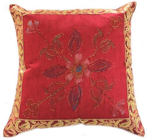 Painting Pillows by Painted Deluxe Floral Accent Pillow Cover Set Of 2 Banarsi Designs