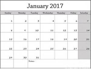 print january 2017 calendar printable calendar templates