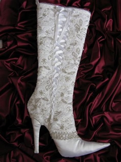 pattern for high heel christmas stocking white lace stiletto christmas stocking by arkathwyn designs