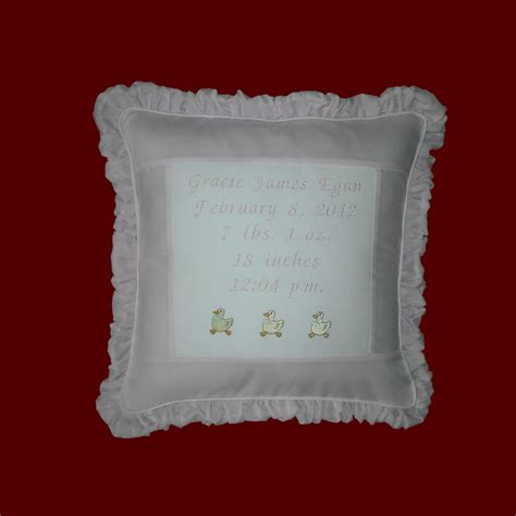 Customized Baby Pillows by New Baby Personalized Keepsake Pillow Pillows Smocked Treasures
