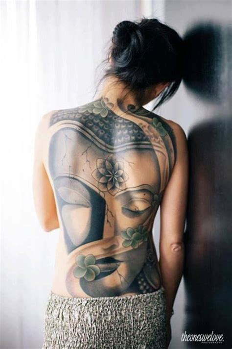 tattoo back buddha buddha grey ink head tattoo on back tattooshunt com
