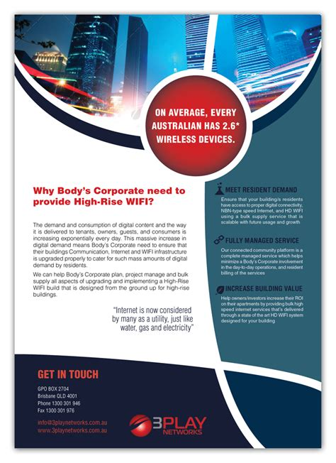 design flyers online australia flyer design for 3play networks pty ltd by bogi design