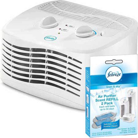 febreze tabletop air purifier with linen and sky scent cartridge