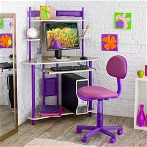 kids bedroom sets with desk purple kids computer desk and chair with storage for small