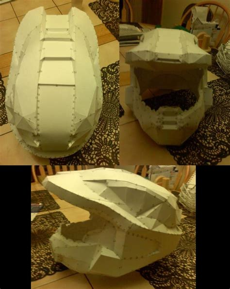 How To Make A Paper Halo Helmet - halo helmet paper form by aelvire on deviantart
