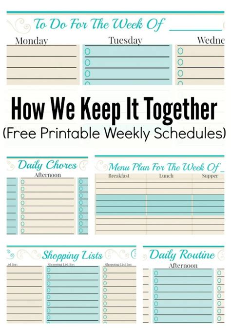 family planner printable free how we keep it together and free weekly planner templates