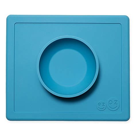 Ezpz Happy Bowl In Blue ezpz happy bowl placemat bedbathandbeyond