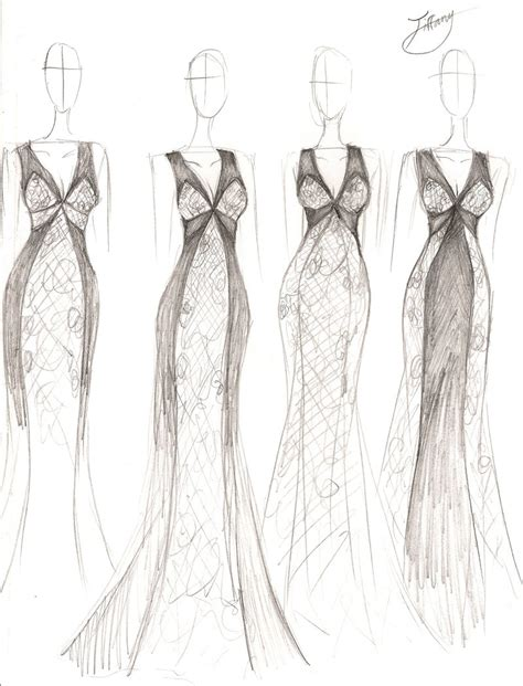 fashion design sketches of dresses 2016 2017 fashion