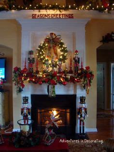 image of christmas mantle with nutcracker 1000 images about deco for mantel on mantels mantels and mantles