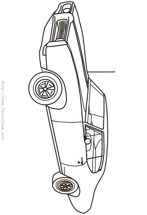Late Sixties Lemans Outline Image Late Model Free Coloring Pages