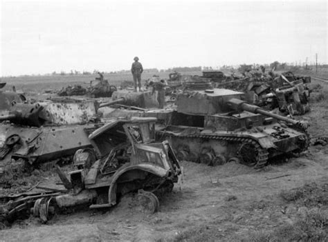 Destroy A Car Dump Truck by Dumped Destroyed And Damaged Armored Vehicles Of Wwii