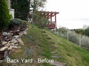 steep slope backyard ideas car interior design
