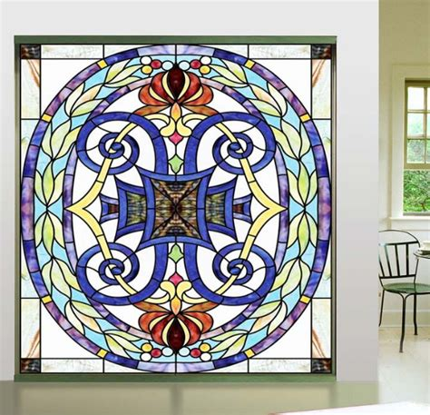 color church style personalized stained window glass