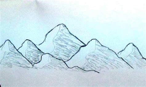 Drawing Mountains by Pictures Mountains Easy Drawing Drawings Gallery