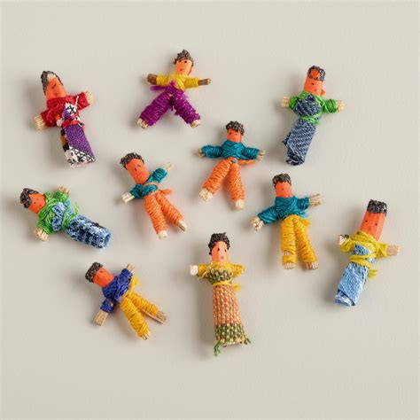Shop Online Home Decor by Mini Guatemalan Worry Dolls Set Of 6 World Market