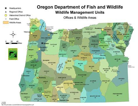 map of oregon units odfw wildlife management unit map