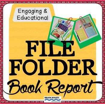 file folder book report book report file folder reading project book project tpt