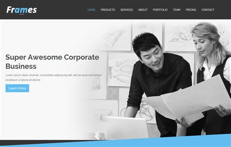 latest corporate free html5 template webthemez
