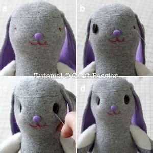 sock bunny bunnies and sock on