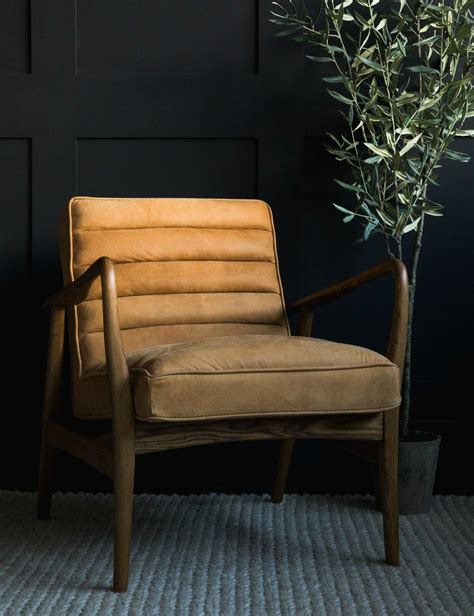 armchair uk mid century leather armchair at rose grey