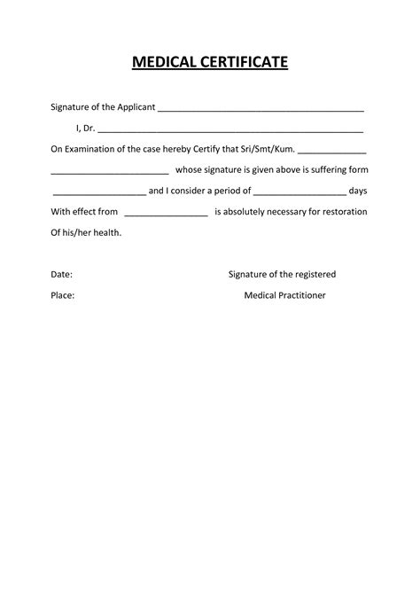 australian doctors certificate template 8 best images of doctor certificate templates