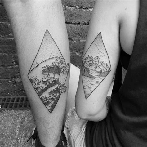 couple tattoo on leg top 100 best matching couple tattoos connected design ideas