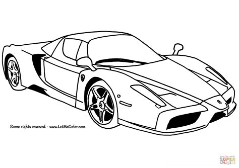 ferrari enzo car coloring page free printable coloring pages