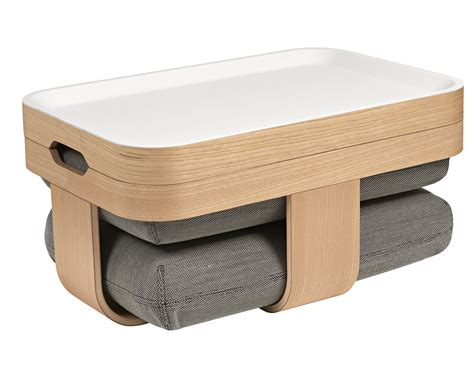 Coffee Table Footrest Mister T Coffee Table Pouffe Footrest Grey By Made In Design Editions By Oxyo