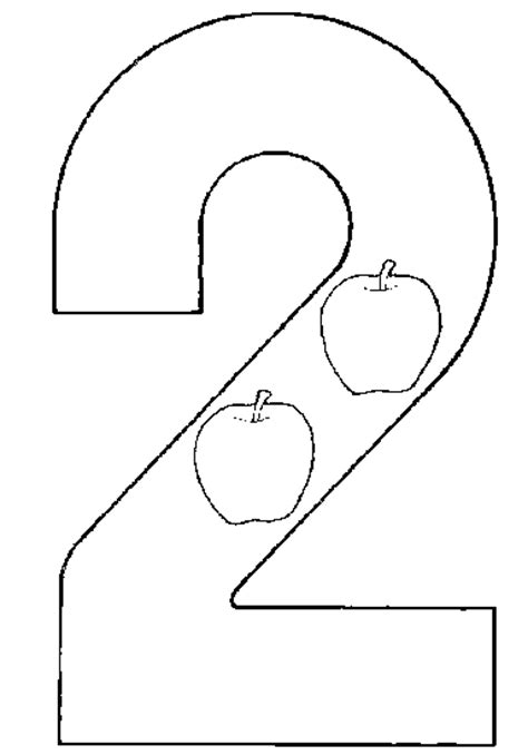 Number 2 Coloring Pages For Preschoolers by Numbers To Coloring Child Coloring