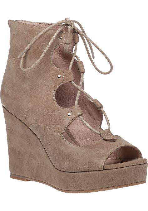 Sandal Wedges Ym08 Hitam 43 lyst j slides colette2 lace up wedge sandals in