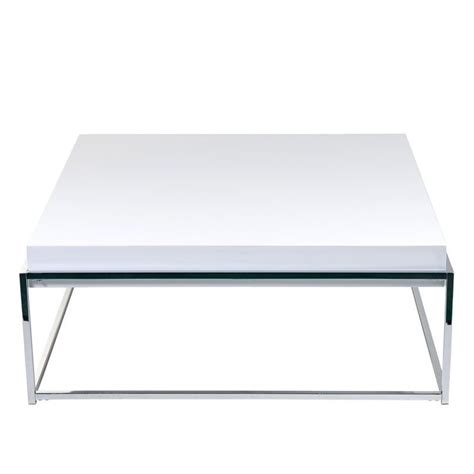 eurostyle greta square coffee table in white lacquer