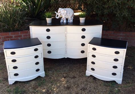 White Black Dresser White And Black Mahogany Bedroom Set Shabby Roots Boutique