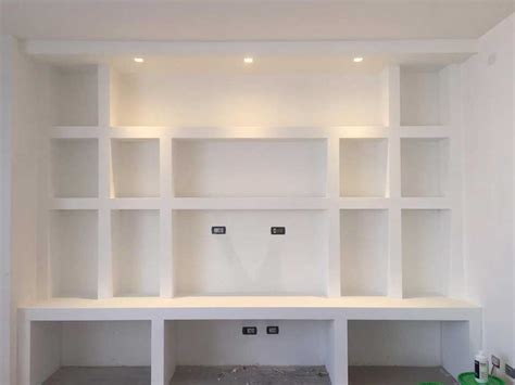 scaffale in cartongesso librerie in cartongesso edile cartongesso