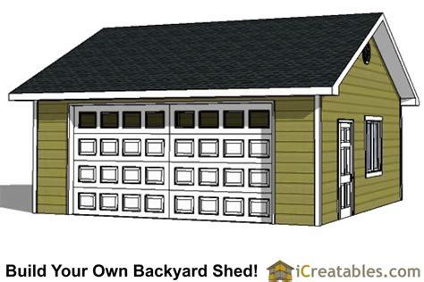 22x22 2 car 2 door detached garage eve over door plans diy 2 car garage plans 24x26 24x24 garage plans