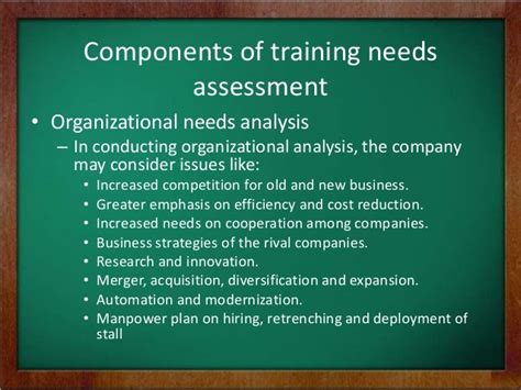 organizational needs analysis template needs assessment analysis