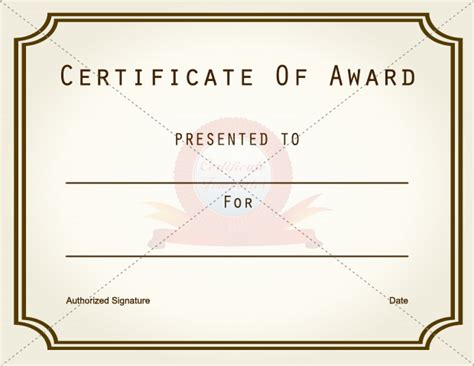 simple certificate template simple certificate of award template sle with gold