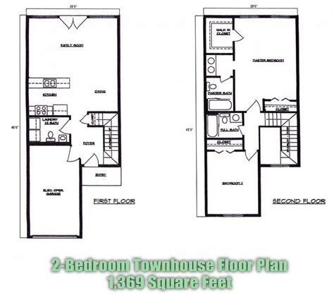 2 bedroom townhomes 17 best images about floor plans on pinterest house