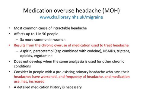 Medication Overuse Headache Detox by Ppt Migraine Powerpoint Presentation Id 3617486