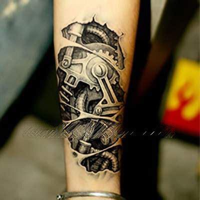 mechanical parts tattoo tattoo paste tattoos stickersmonochrome wasserdichte