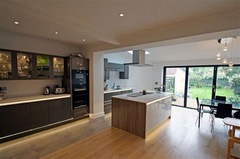 modern kitchen extensions rear extension and modern kitchen design refurb in new