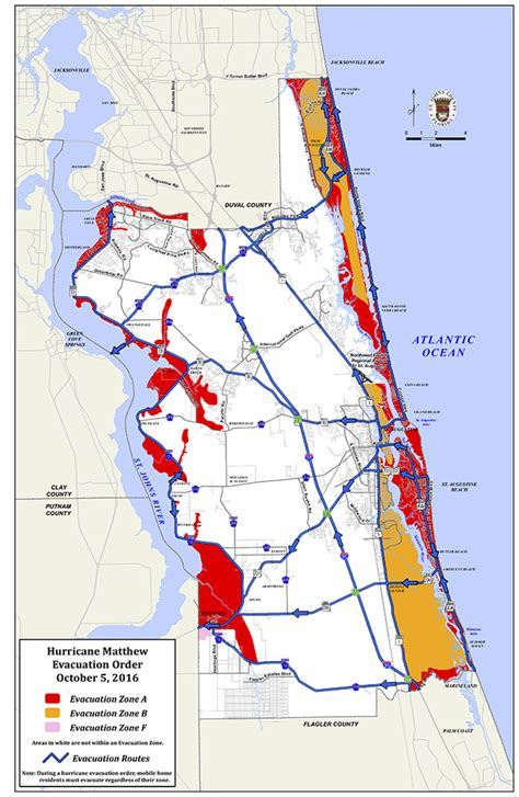 map of st county florida mandatory evacuation order issued in st johns county