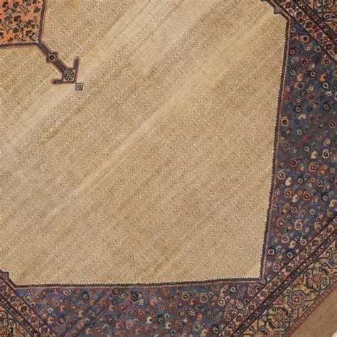 hair rug antique malayer camel hair rug with modern design for sale at 1stdibs