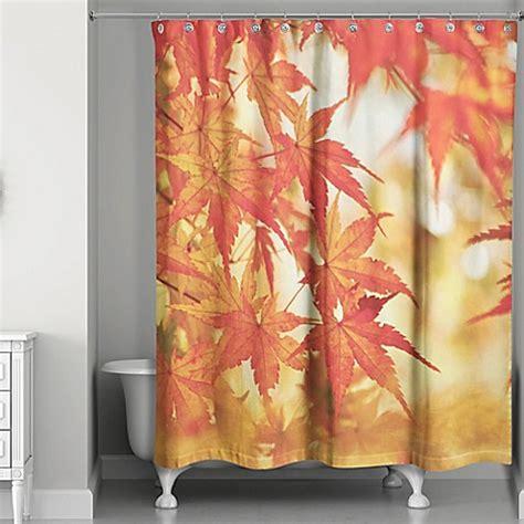 autumn leaves shower curtain autumn leaves shower curtain bed bath beyond