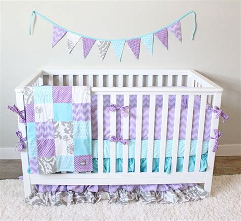 purple and grey crib bedding sets best girl crib bedding purple teal and gray nursery