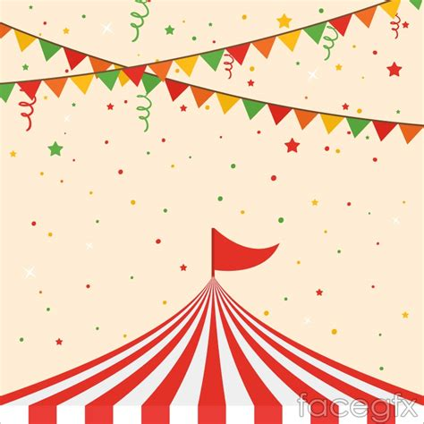 top of the circus tent with triangular flag background