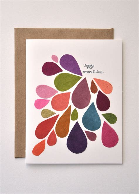 unique postcards thank you card handmade greeting card abstract mod fall
